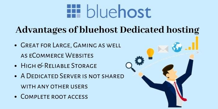 Advantages of BlueHost Dedicated hosting