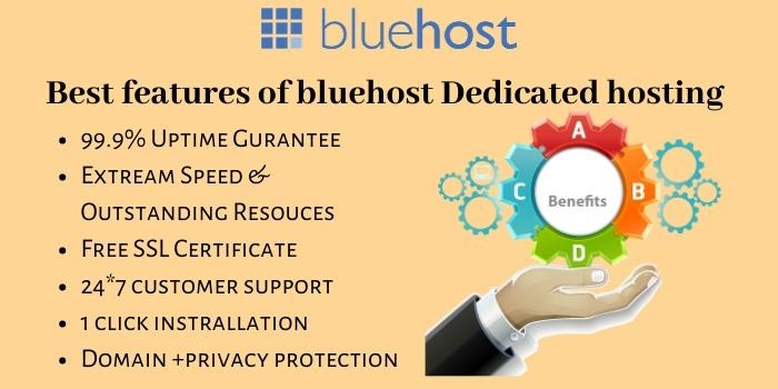 BlueHost Dedicated Hosting Features