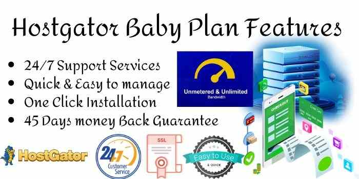 Hostgator Baby Plan Features