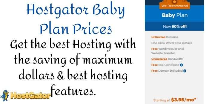 Hostgator Baby Plan Prices